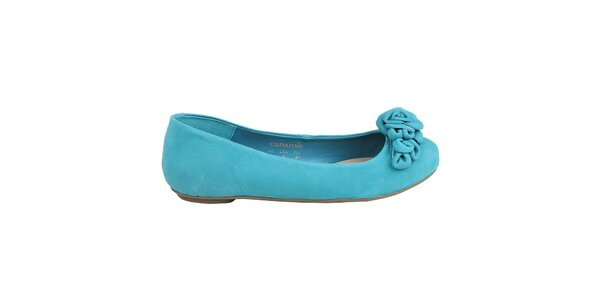 Dámské azurově modré balerínky Cubanas Shoes