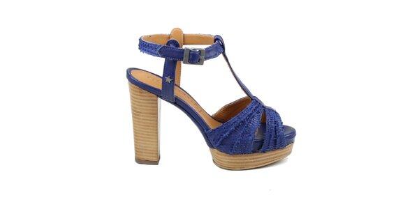 Dámské modrofialové sandálky Cubanas Shoes