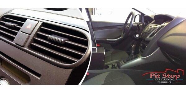 Dezinfekce interiéru vozidla ozónem (včetně klimatizace)