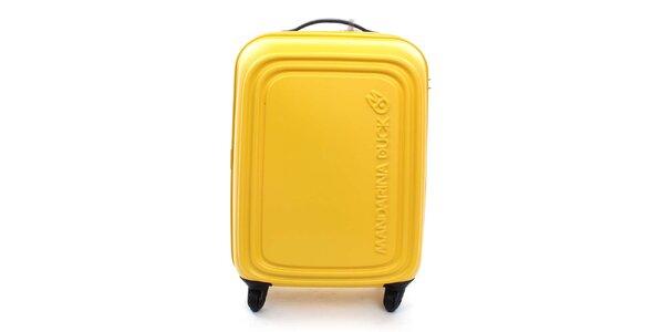 Středně velký žlutý kufr na kolečkách a s TSA zámkem Mandarina Duck
