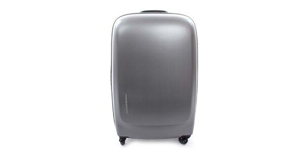 Stříbrný kurf na kolečkách a s TSA zámkem Mandarina Duck