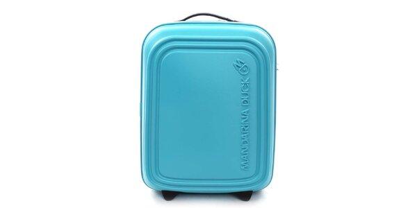 Tyrkysový cestovní kufr s TSA zámkem Mandarina Duck