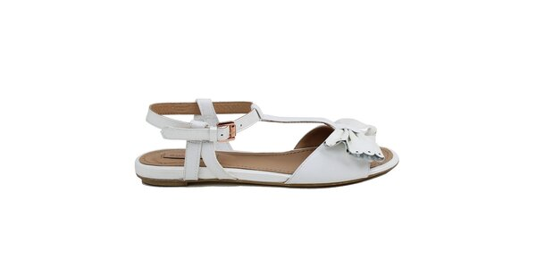 Dámské bílé sandálky s mašlí Cubanas Shoes