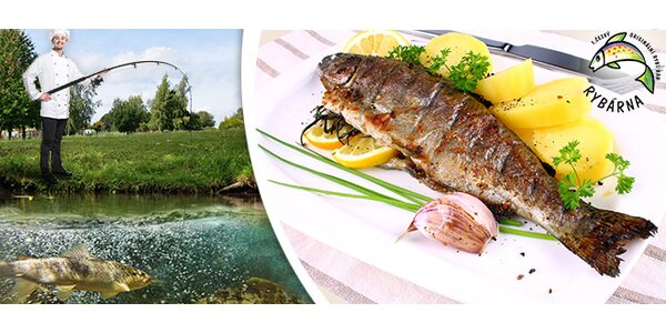 3chodové menu pro dva v Rybářské baště