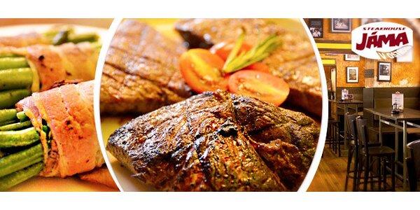Masové degustační menu (600 g) v Jáma Steakhouse
