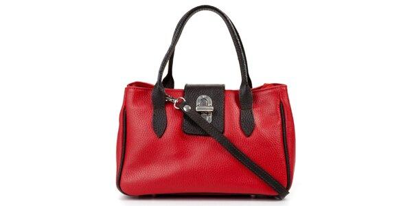 Dámská malá červeno-černá kabelka Giulia