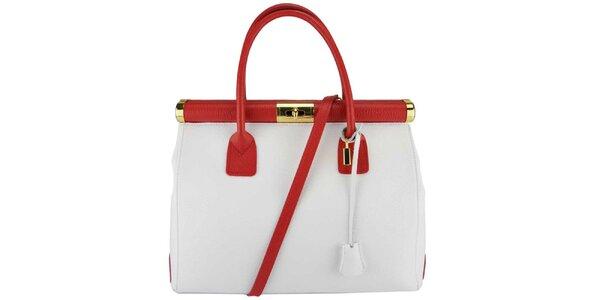 Dámská bílo-červená kabelka Giulia
