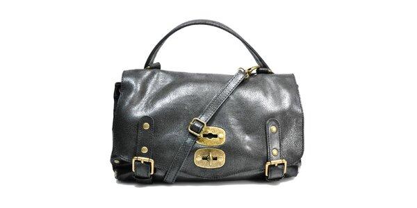 Dámská černá kabelka se zámečkem Giulia