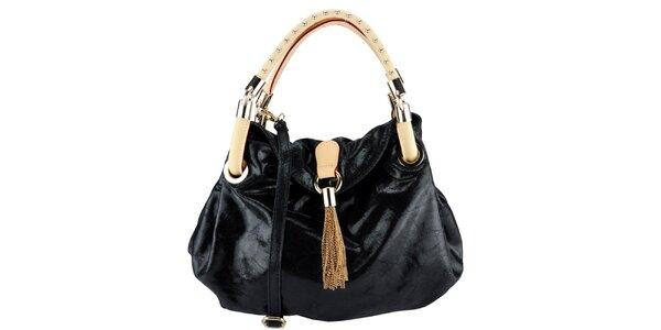 Dámská černá kabelka s ozdobnými uchy Giulia
