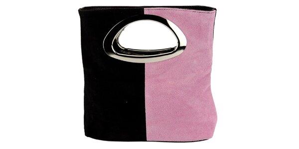 Dámská černo-růžová kabelka Giulia