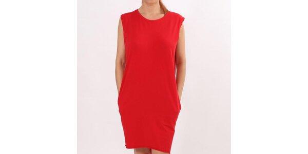 Dámské červené šaty s kapsami Santa Barbara