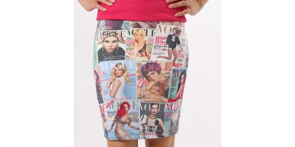 Dámská sukně s Vogue potiskem Santa Barbara