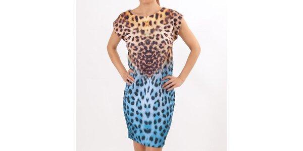 Dámské dvoubarevné šaty s leopardím vzorem Santa Barbara