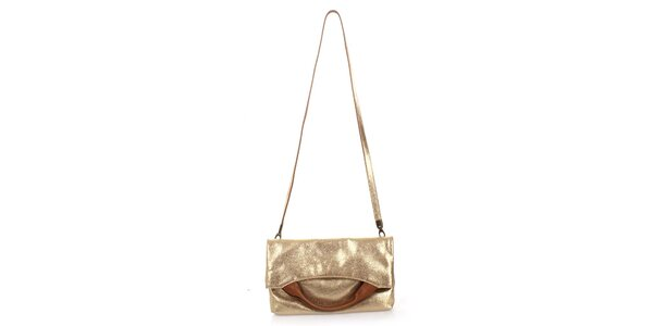 Dámská zlatá kabelka Puntotres