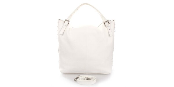 Dámská bílá kabelka s cvočky Puntotres