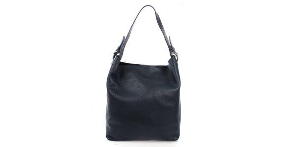 Dámská tmavě modrá kabelka s jedním uchem Puntotres