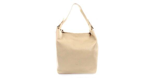 Dámská kožená kabelka v béžové barvě Puntotres