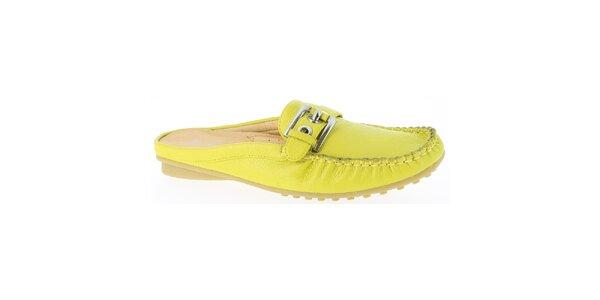Dámské žluté letní mokasíny Andrea Conti