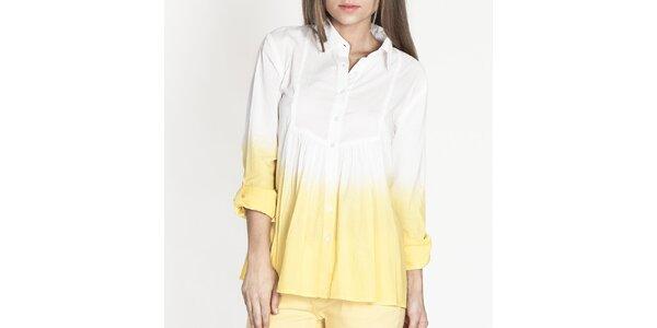 Dámská bílo-žlutá košile Tantra