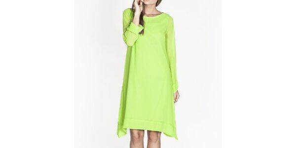 Dámské zelené volné šaty Tantra