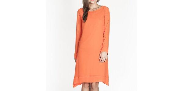 Dámské oranžové volné šaty Tantra