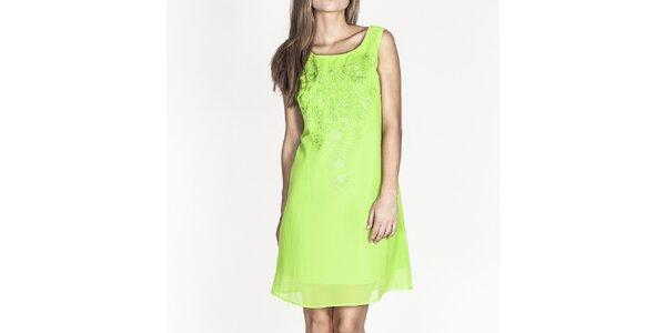 Dámské sytě zelené šaty bez rukávů Tantra