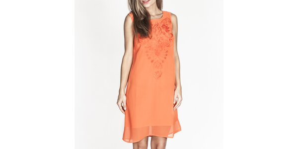 Dámské oranžové šaty bez rukávů Tantra