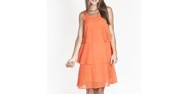Dámské oranžové šaty s kanýry Tantra