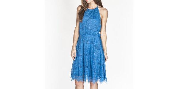 Dámské modré krajkové šaty Tantra