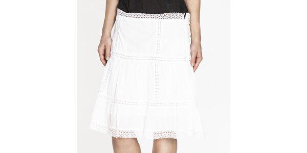 Dámská bílá sukně s perforací Tantra