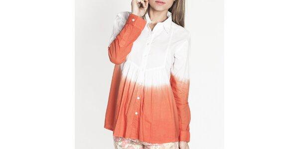 Dámská bílo-oranžová košile Tantra