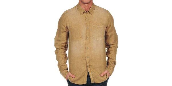Pánská béžová košile Calvin Klein