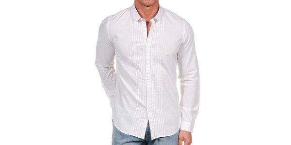 Pánská bílá ozdobná košile Calvin Klein