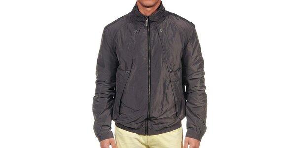Pánská tmavě šedá bunda Calvin Klein
