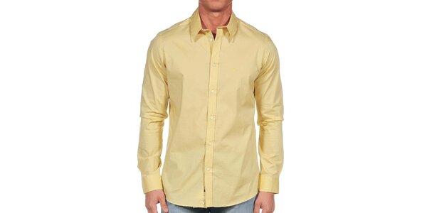 Pánská světle žlutá košile Calvin Klein
