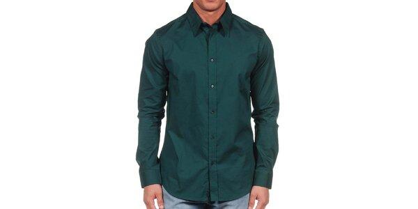 Pánská tmavě zelená košile Calvin Klein