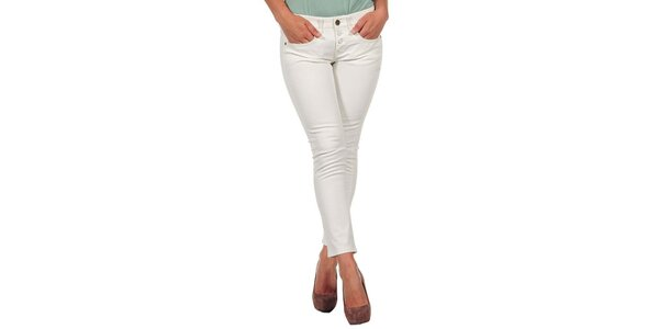 Dámské krémově bílé džíny s knoflíčky Calvin Klein