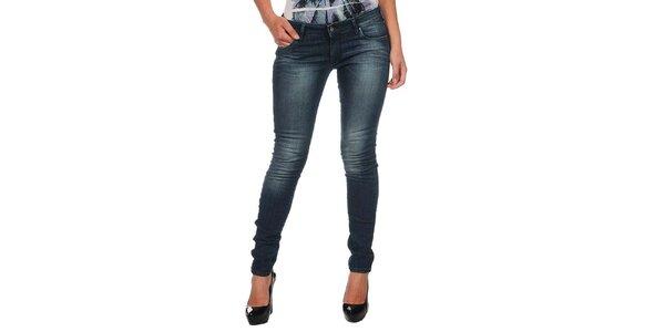 Dámské modré džíny s šisováním Calvin Klein