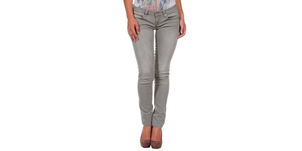 Dámské šedé úzké džíny Calvin Klein