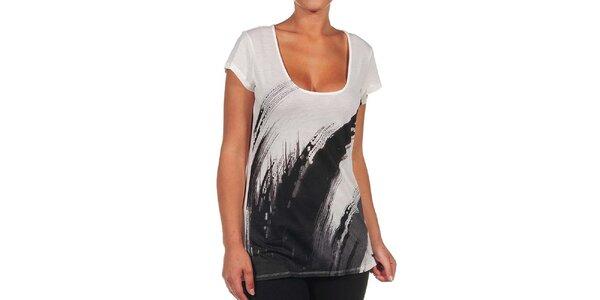 Dámské bílé tričko s černým potiskem Calvin Klein
