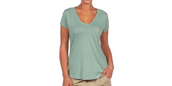 Dámské zelené tričko s logem Calvin Klein