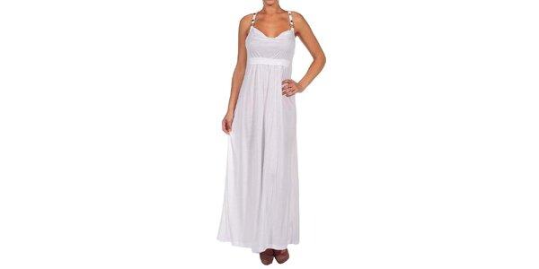 Dámské bílé dlouhé šaty Calvin Klein