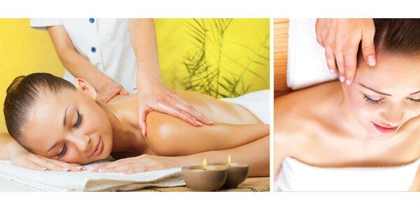 Klasická masáž s masáží hlavy