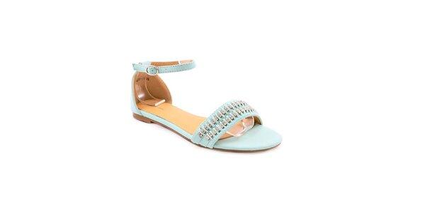 Dámské modré sandálky s kamínky Balada