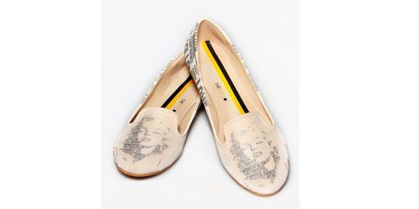 Dámské pudrové loafers s Marylin The Bees