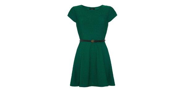 Dámské zelené šaty s krátkým rukávem Iska