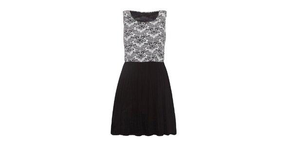 Dámské vzorované šaty s černou sukní Iska