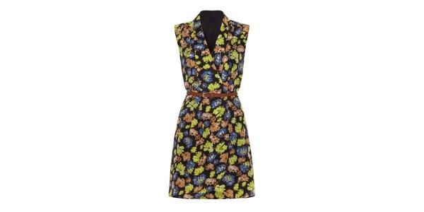 Dámské zavinovací šaty s květinami Iska