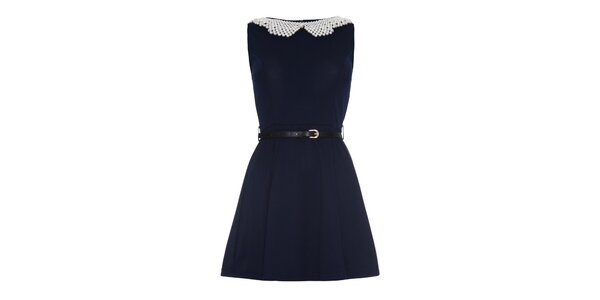 Dámské šaty s perlovým límečkem Iska