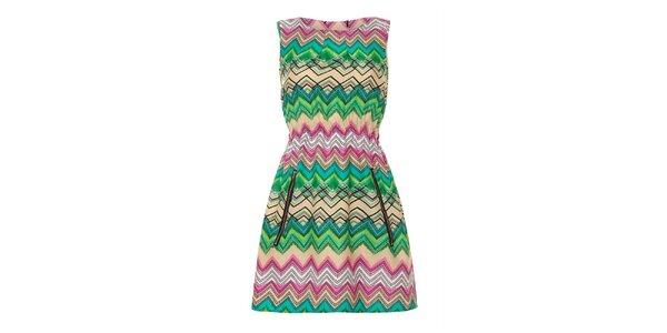 Dámské barevné chevronové šaty Iska